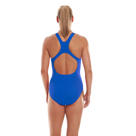 speedo Essential Endurance+ Medalist Swimsuit Women Neon Blue